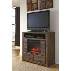 B24649 -W10002 Quinden -Media Chest w/Fireplace