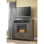 B25149 -W10001 Juararo - Media Chest w/Fireplace