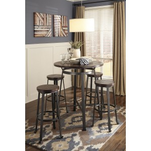 D307 - Challiman - Round Dining Room Bar Table