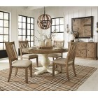 D754-50T-05 Grindleburg - Round Dining Room Table