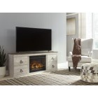 EW0267 Willowton - LG TV Stand w/Fireplace