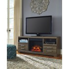 W12968 -W10001 Frantin - LG TV Stand w/Fireplace