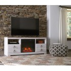 W26768 -W10001 Willowton -LG TV Stand w/Fireplace