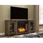 W719-68 Flynnter-XL TV Stand w/Fireplace