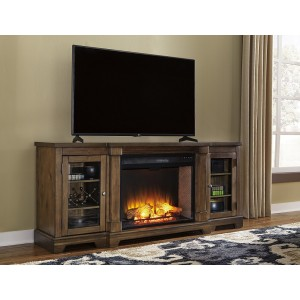 W719-68 Flynnter-XL TV Stand w/Fireplace