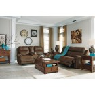 38400 Austere - 2 Seat Reclining Sofa -DBL Rec Loveseat w/Console