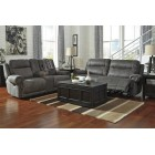 38401 Austere - 2 Seat Reclining Sofa -DBL Rec Loveseat w/Console