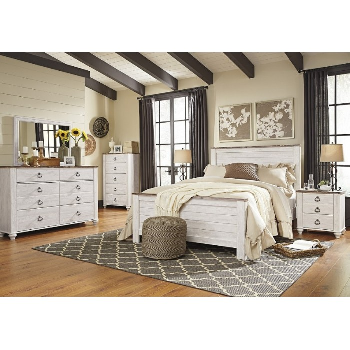 B267 willowton panel bed - Ashley wilkes bedroom collection ...