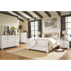 B267 - Willowton - Sleigh Bed