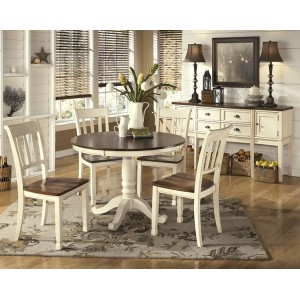 D583-15 Whitesburg-  Round Dining Room Table